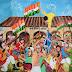 """बलिया के वरिष्ठ चित्रकार डॉ.इफ्तेखार खान की आयल कलर से कैनवास पर बनाई गयी कलाकृति """"बलिया क्रांति 1942""""उत्तर प्रदेश की ओर से हुई प्रदर्शित"""