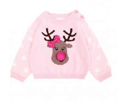 pink with reindeer and pink nose