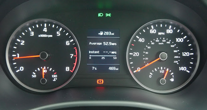 Kia Rio instrument panel
