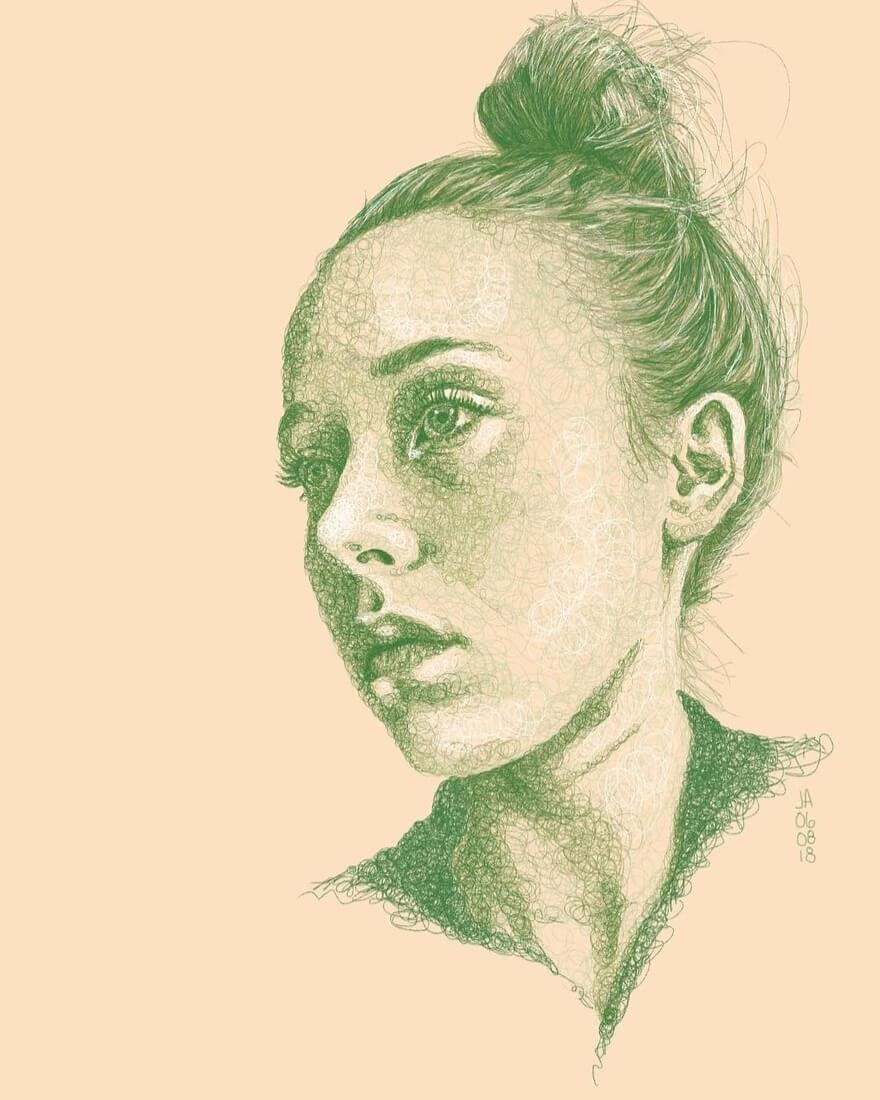 02-Bobbie-Jennifer-Ackerman-Digital-Art-Scribble-Drawing-Portraits-www-designstack-co