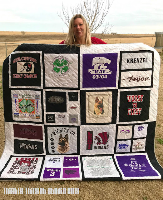 T-Shirt Quilt by Thistle Thicket Studio. www.thistlethicketstudio.com