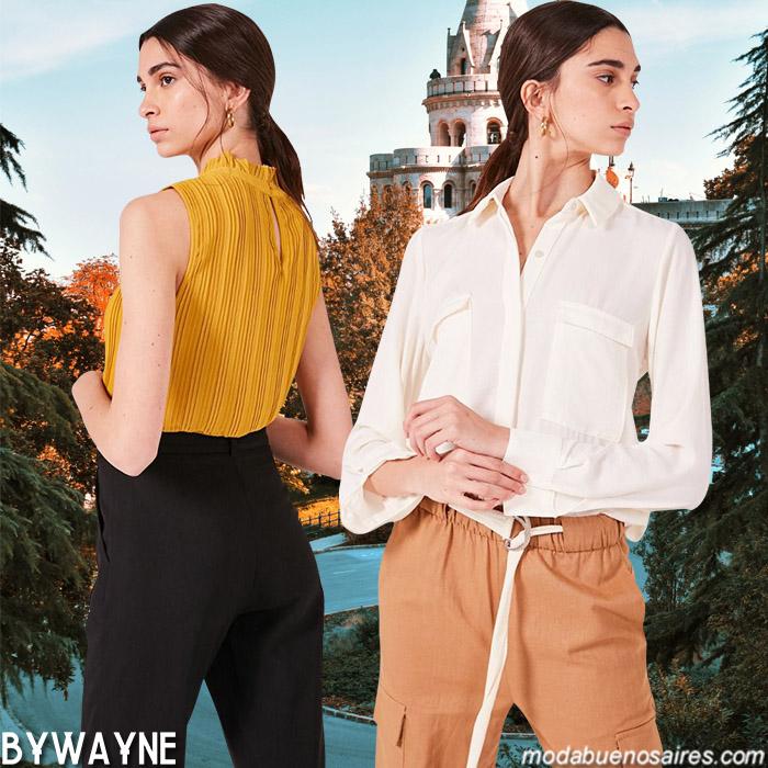 Camisas de mujer y pantalones de vestir primavera verano 2020. Moda casual para mujer primavera verano 2020.