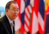 United Nations Secretary General Ban Ki-moon arrives to attend ASEAN Summit in Vientiane, Laos September 8, 2016. (Credit: Reuters/Soe Zeya Tun) Click to Enlarge.