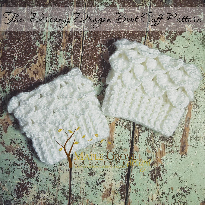 The Dreamy Dragon Boot Cuffs Maple Grove Creative Design