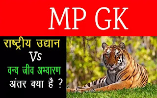 राष्ट्रीय उद्यान और अभ्यारण में अंतर - Rashtriy udyan in india