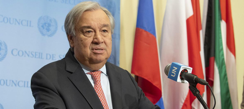 El Secretario General António Guterres habla ante la prensa en la sede de la ONU en Nueva York / ONU