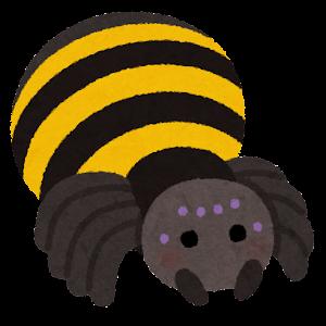 クモのキャラクター(黄色)
