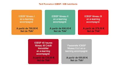 tarif formation iobsp niveau 3