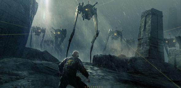 Col Price artstation ilustrações artes conceituais ficção científica alienígenas naves espaciais robôs