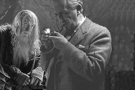 Gandalf and his Creator smoke a Bowl of Old Toby