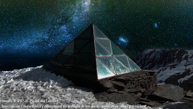 Investigación sobre campo gravitatorio para anticipar colisiones en el espacio. Chacaltaya.
