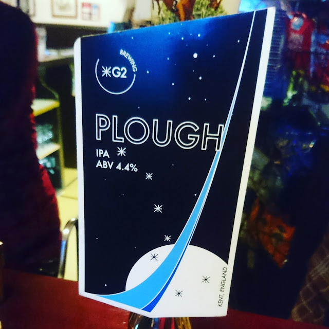 Kent Craft Beer Review: Plough from G2 Brewing real ale pump clip