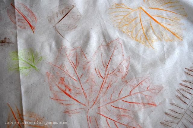 leaf rubbing art