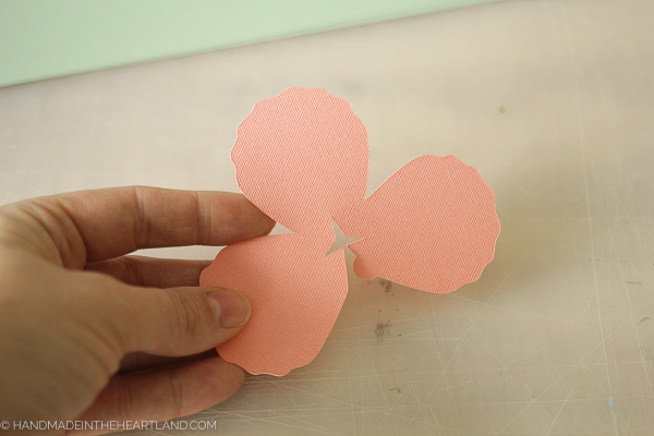 making a 3d paper peony flower
