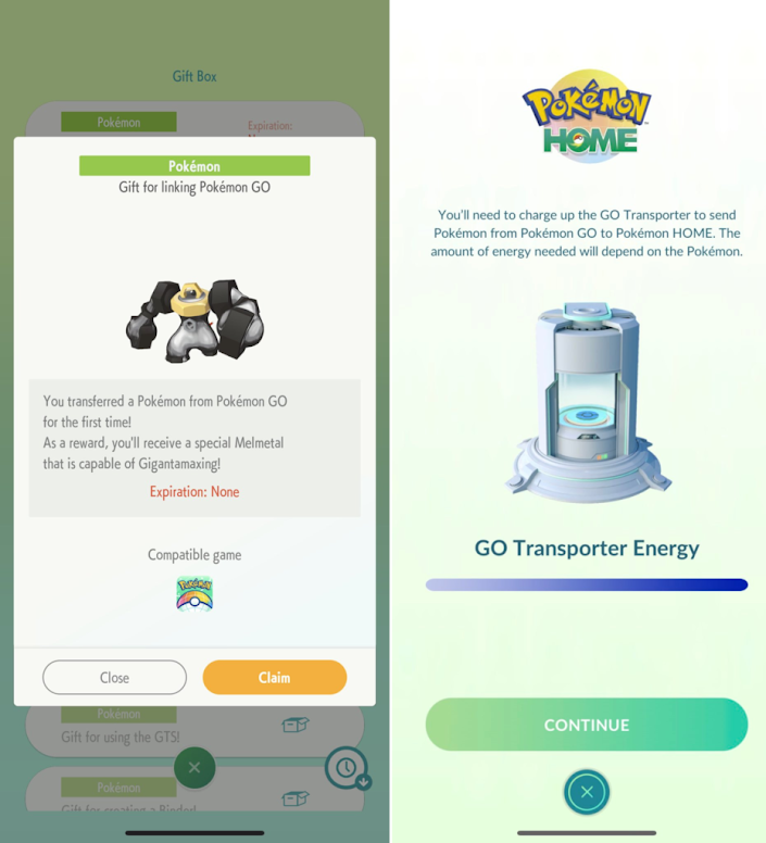 Pokémon HOME GO Transporter