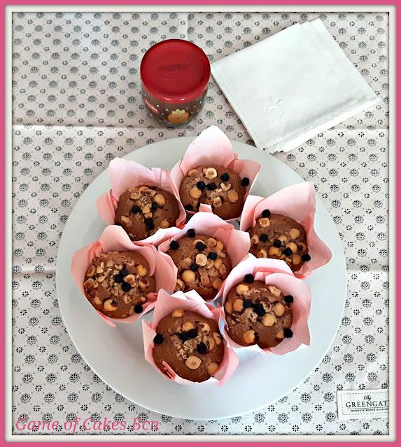Muffins de Nocilla y Avellanas