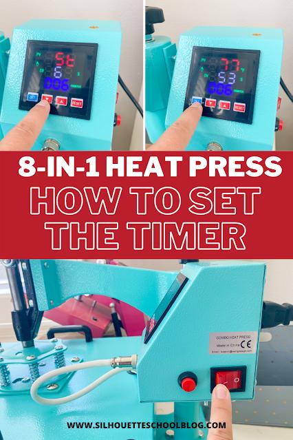 silhouette 101, silhouette america blog, heat press, heat press basics, 8-in-1 heat press