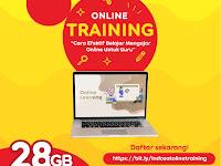 """TRAINING ONLINE """" Cara Efektif Belajar Mengajar Online Guru """""""