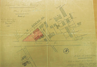 Plan de Cour-Cheverny de 1893 - école de filles - rue de la  Gendarmerie