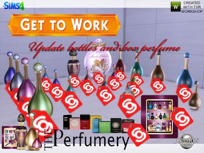 updates Парфюмерия заводит флаконы для The Sims 4 В парфюмерию попадают рабочие флаконы и обновляются коробки. Вот бутылки и коробочка для вашей парфюмерии. Доберитесь до работы Sims 4. для гигантского аромата Deco 1 теперь в 8 цветах .like 'small аромат. Автор: jomsims