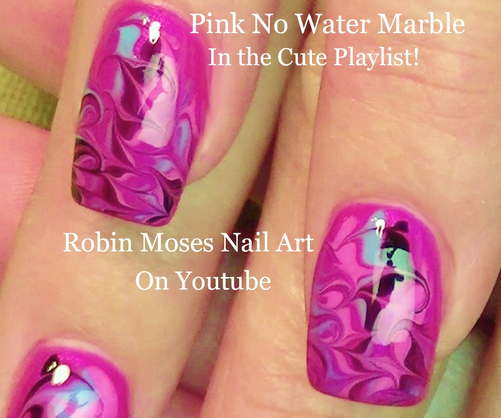 Nail Art by Robin Moses: Marble Nails with No Water Needed! \