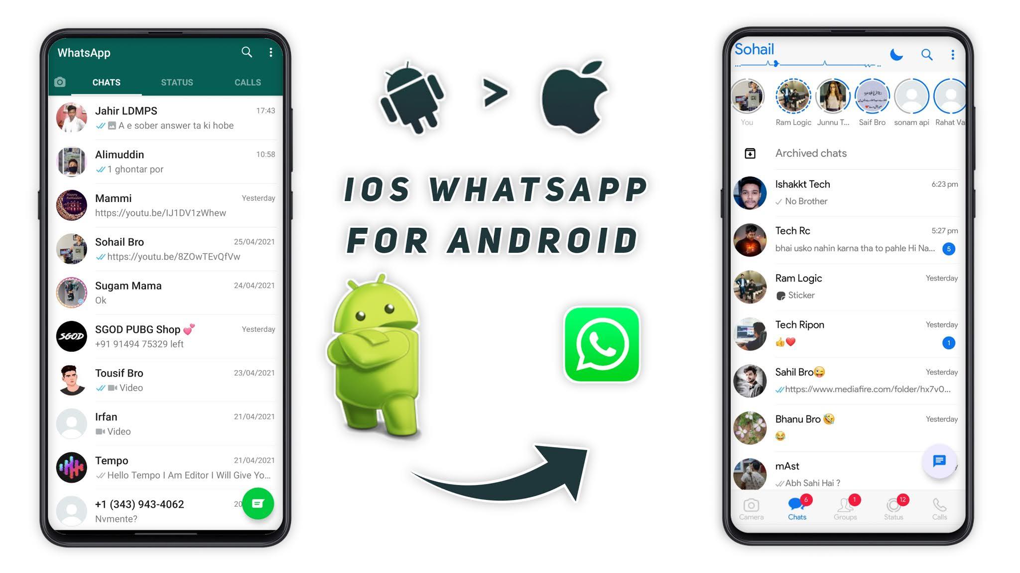 iOS 20 WhatsApp For Android iPhone WhatsApp   Fouad WhatsApp New ...