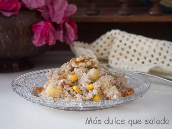 Ensalada de quinoa con vinagreta de miel