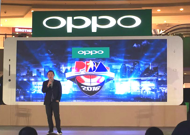 Coach Chot Reyes announces OPPO and PBA recent partnership