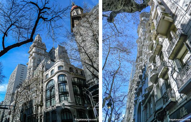 Fachada do Palácio Barolo, na Avenida de Mayo, Buenos Aires