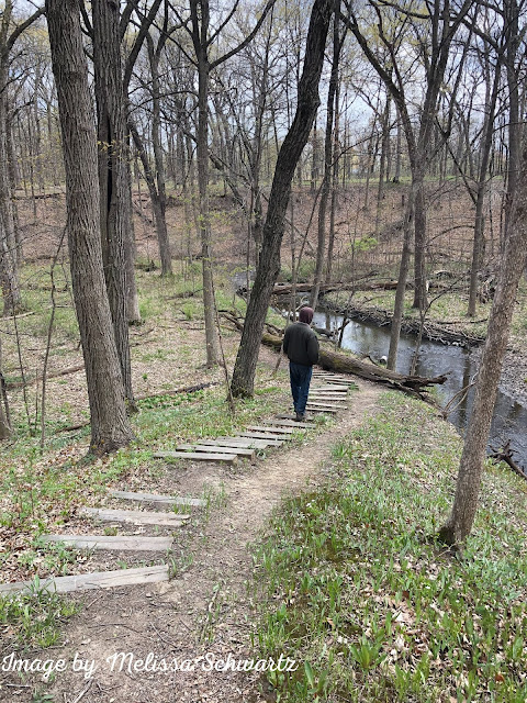 Wandering the ravine at Reed-Turner Woodlands in Long Grove, Illinois