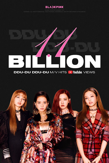 "MV ""DDU-DU-DDU-DU"" BLACKPINK Tembus 1.1 Miliar Views di YouTube"