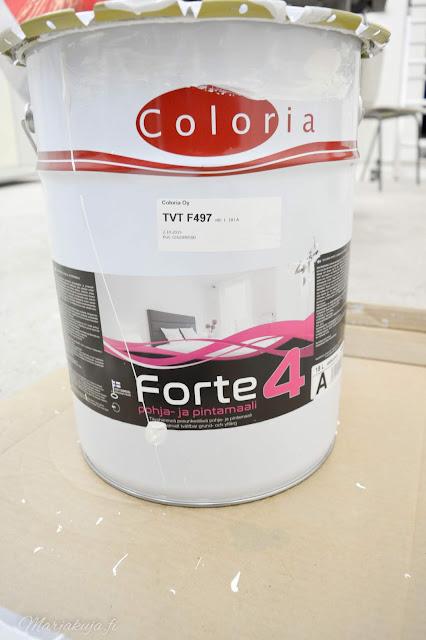 coloria forte seinämaalilla autotallin seinät uusiksi.