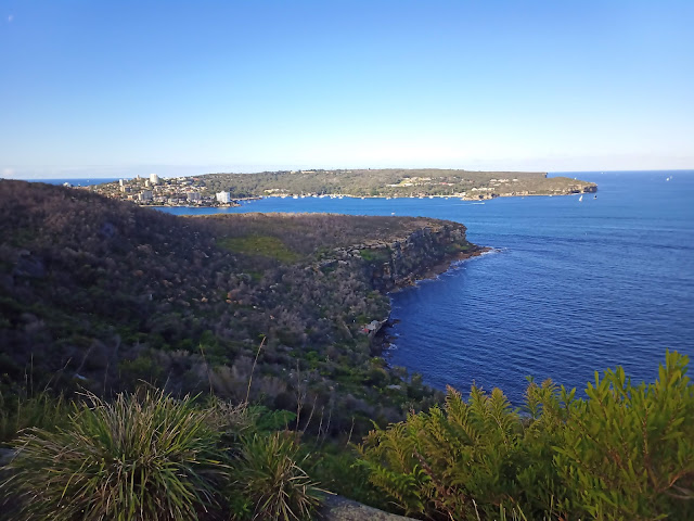 View of bushland and ocean from Grotto Point Track
