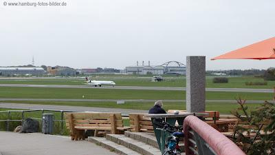 Flugzeuge fotografieren am Flughafen in Hamburg