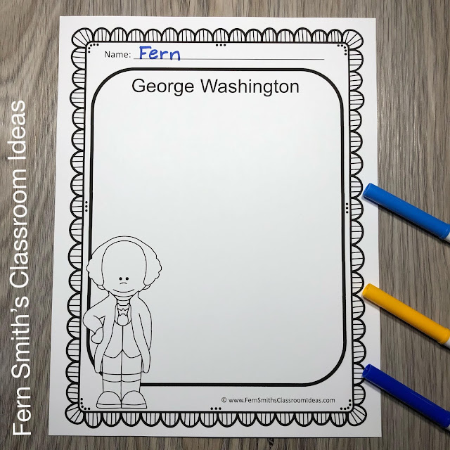 Presidents Day Writing Center For George Washington and Abraham Lincoln Freebie #FernSmithsClassroomIdeas