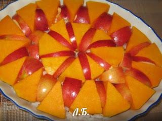 тыква с рисом и яблоками