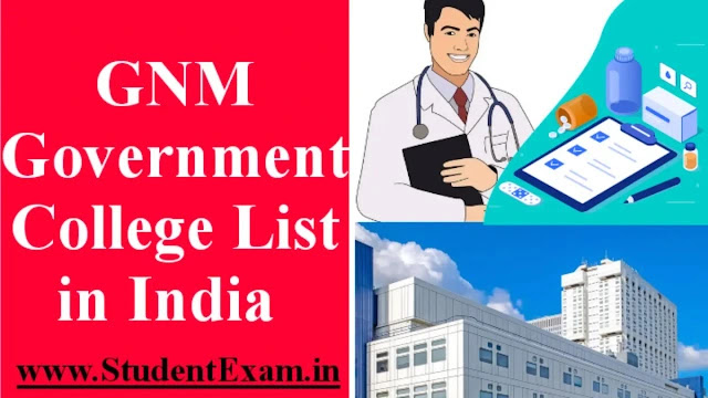 GNM Government College List