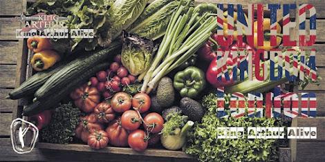 Wholesale of vegetables and food. Coronavirus. King Arthur Alive
