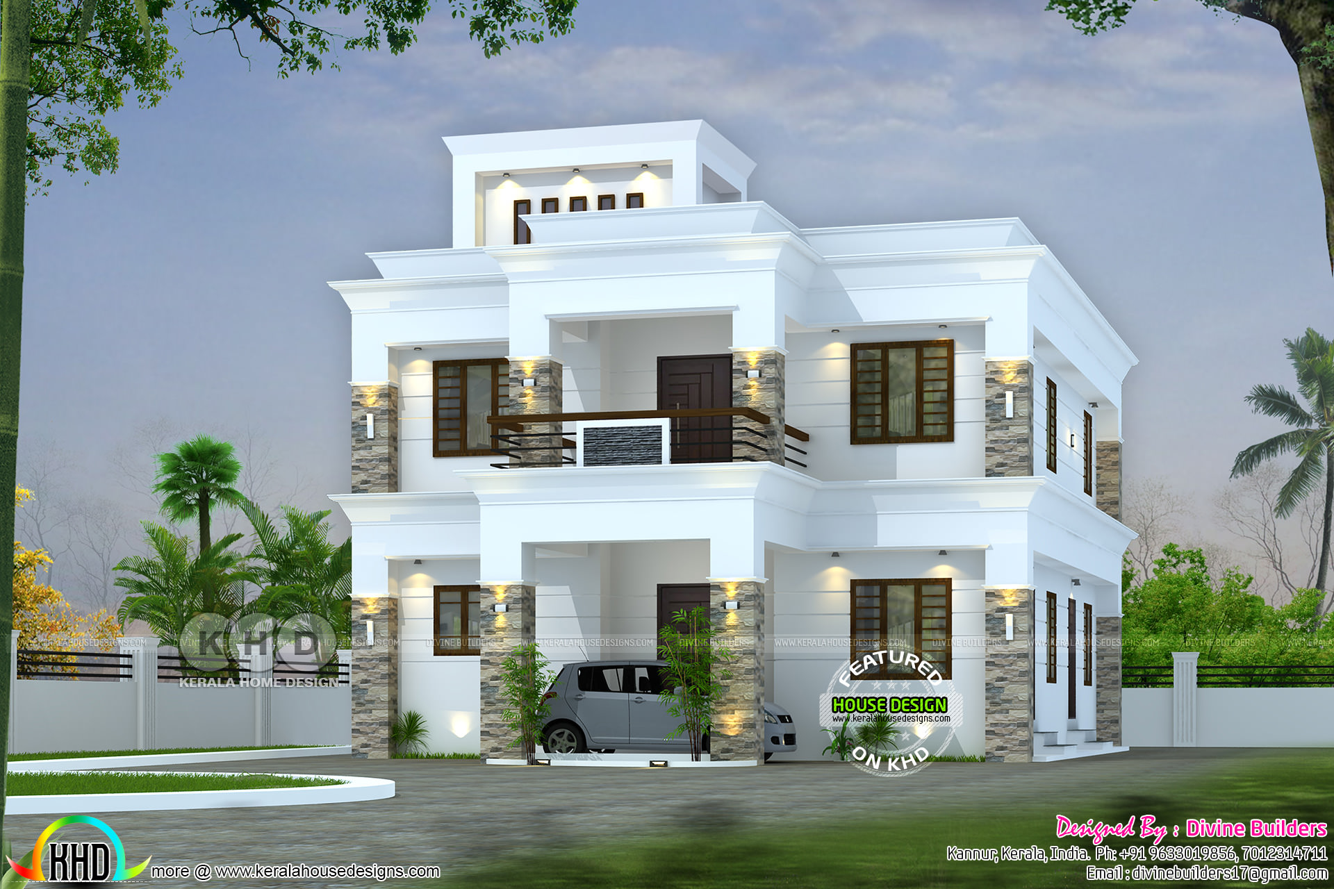 2368 Sq Ft Colonial Mix Flat Roof House Kerala Home Design Bloglovin