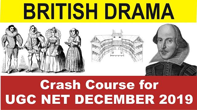 british drama for ugc net 2019, british drama, elizabethan drama