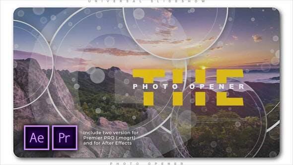 Universal Slideshow Photo Opener[Videohive][Premiere Pro][28805774]