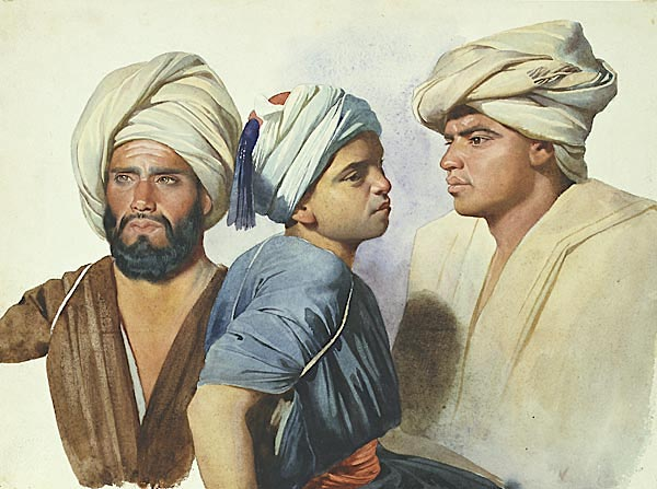 Charles Gleyre ( 1806-1874), Trois fellahs, 1835 , Musée cantonal des Beaux-arts de Lausanne, orientalisme