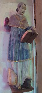 Statue de Saint Saëns Sidoine de Jumièges Corny Eure