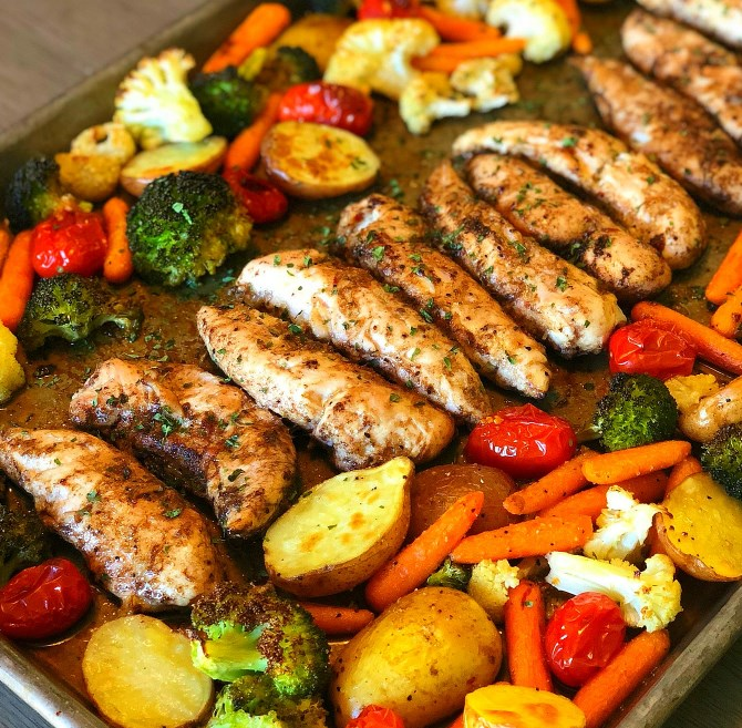 One Pan Balsamic Chicken #dinner #meal
