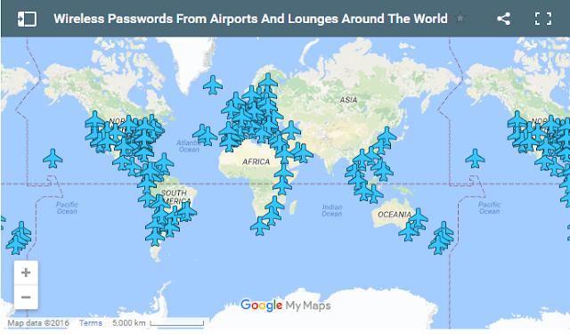 This interactive map shows free wi fi passwords at airports around polat created wifox an app for android and ios and after he realised how difficult it could be to access the free wi fi that many airports claim to offer gumiabroncs Gallery