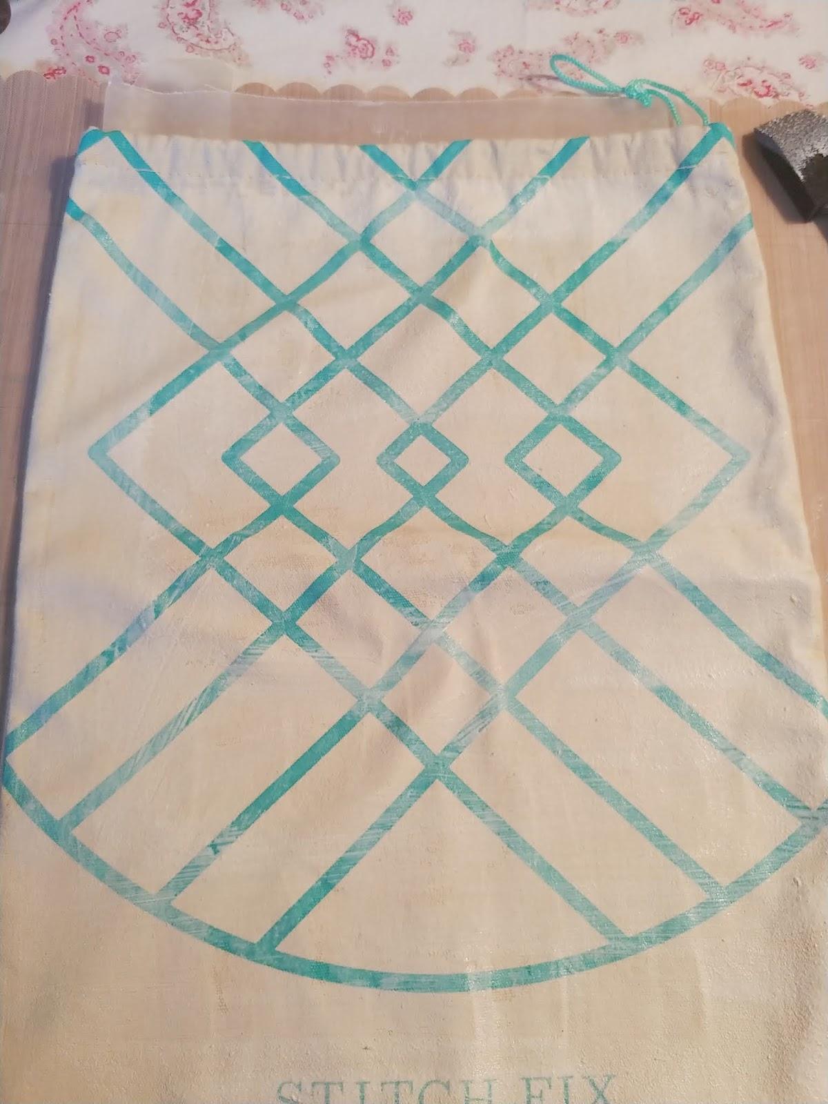 Upcycled Stitch Fix Shoe Bag
