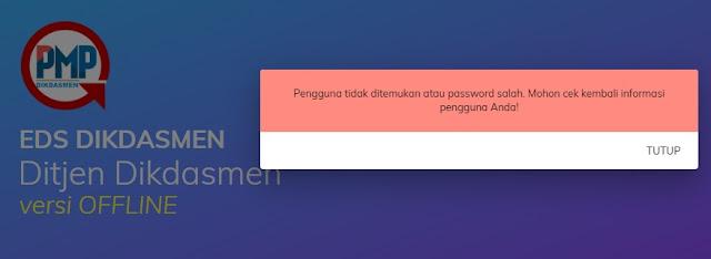 Cara mengatasi gagal login PMP