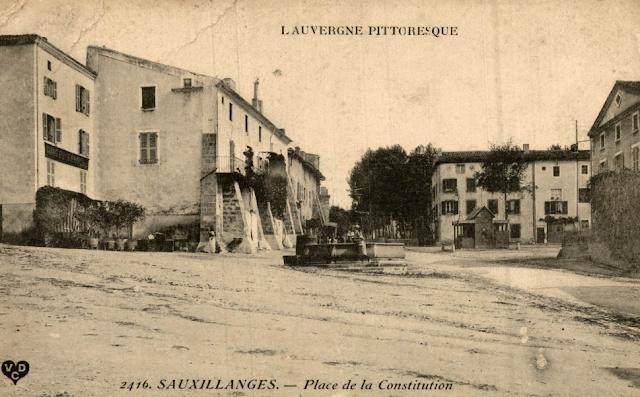 CPA Sauxillanges, Puy-de-Dôme.
