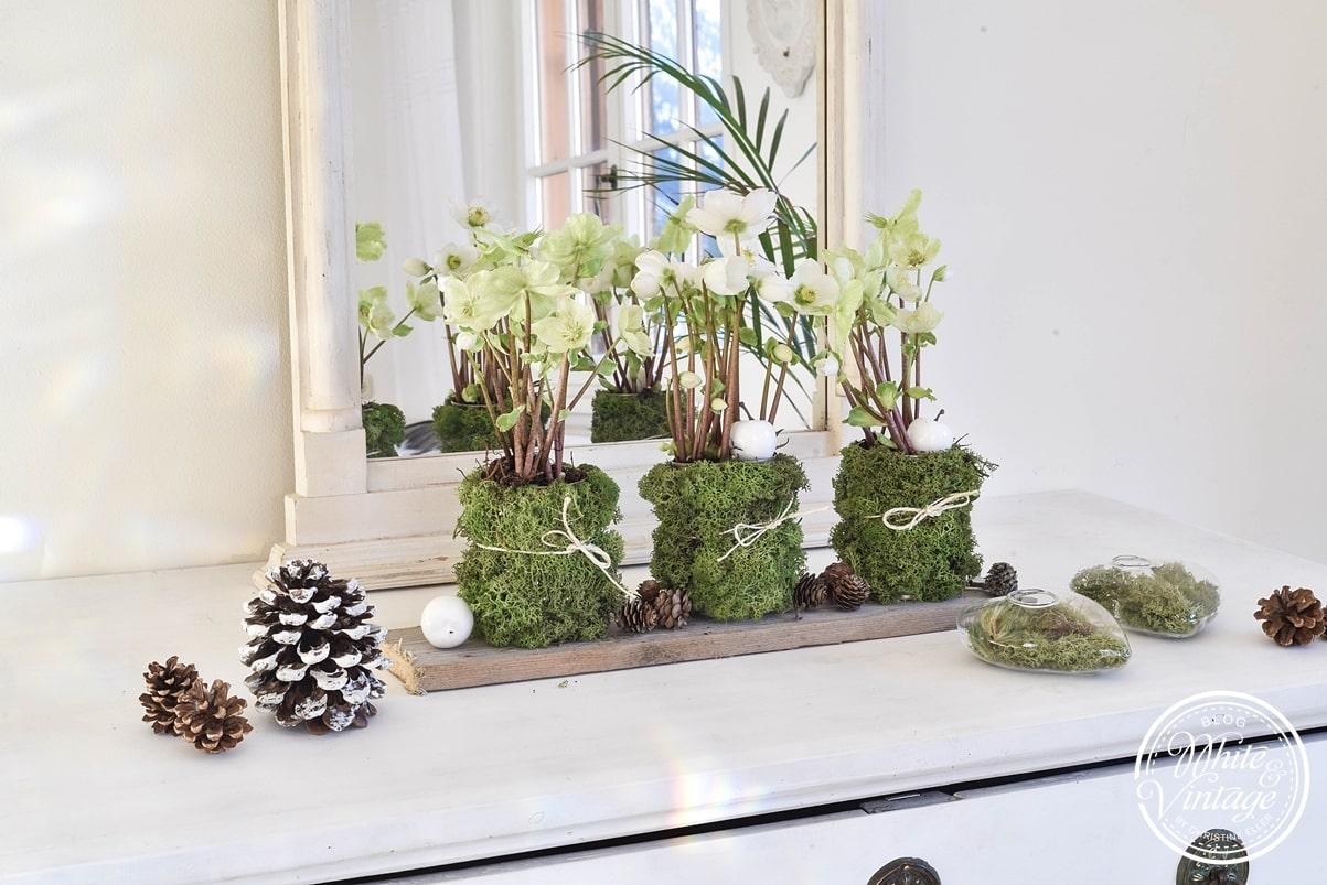 DIY Winterdeko aus Naturmaterialien und Dosen.
