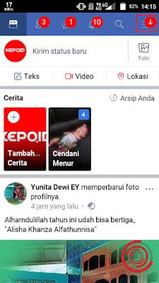 1. Langkah pertama untuk cara menghilangkan waktu terakhir online di Facebook Lite ialah silakan kalian buka terlebih dahulu aplikasi Litenya, lalu pilih menu di pojok kanan atas